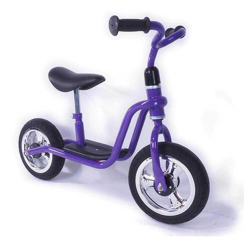 Rctoystory จักรยานทรงตัว balance bike ล้อยาง มีที่วางเท้า (สีม่วง)