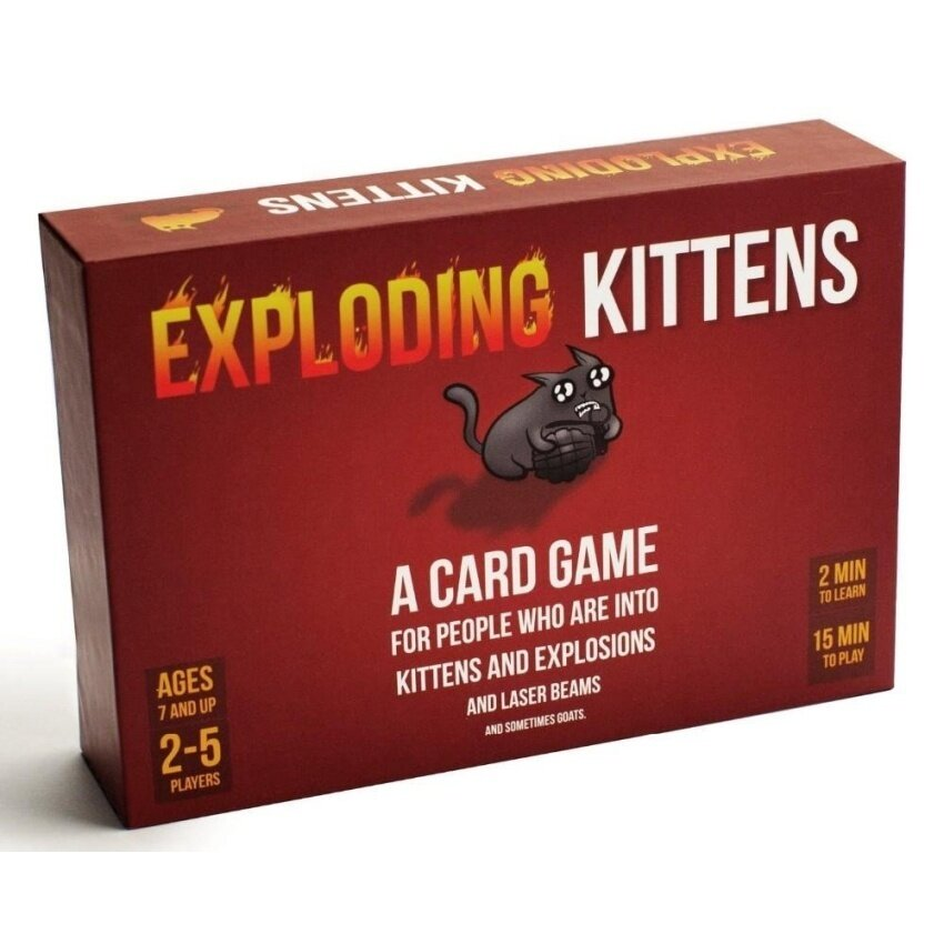 Red Children and Adult Edition Exploding Cards Game ExplosionOriginal Exploding Kittens for Imploding Cards Board Game - intl image