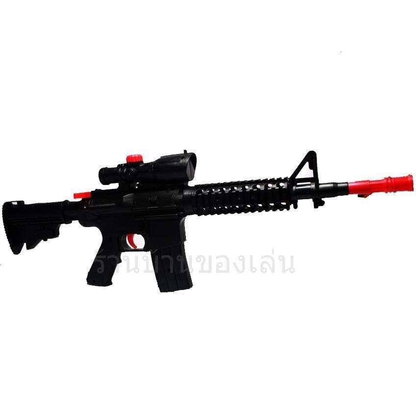 RWR TOY ปืน ปืนยิงกระสุนโฟมและกระสุนน้ำเจลคริสตัล M16