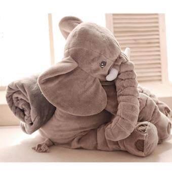 SavaRose ตุ๊กตาช้าง ขนาด 60 cm.(สีเทา)รุ่นมีผ้าห่ม