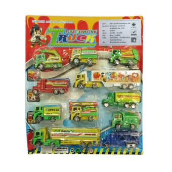 SCMShop ของเล่นเด็ก ของเล่นสมมุติ รถเด็กเล่น รถคอนวอย 11 คันต่อแผง\nรุ่น 113148