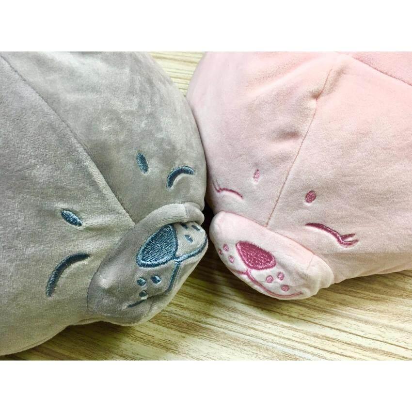 Seal #Grey#ตุ๊กตาแมวน้ำ(L) สีเทา ขนาด 60 cm