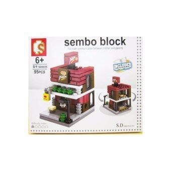 ชุดตัวต่อเลโก้ Sembo block ในชุดร้านพิซซ่า [95 PCS}