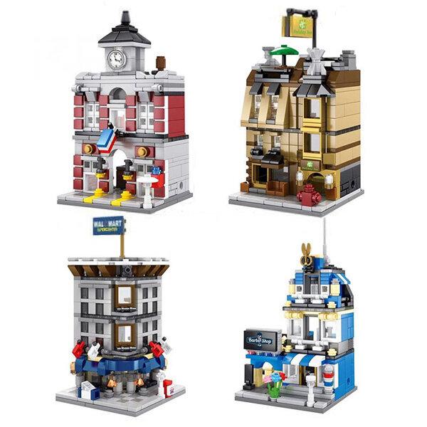 เลโก้ยี่ห้อ Sembo Block SD 6500-6503 Mini City เมืองจิ๋ว ชุด 4 กล่อง image