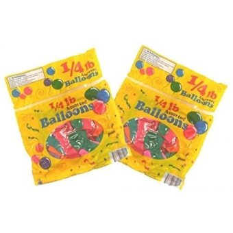 Set of 2 Packs of Assorted Colors and Sizes Balloons Over 120 Total - intl
