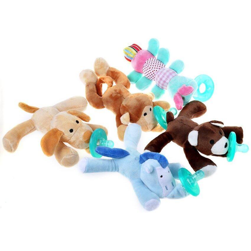 SH 1pcs Infant Animal Silicone Wubbanub Cuddly Soft Plush Toy - intl