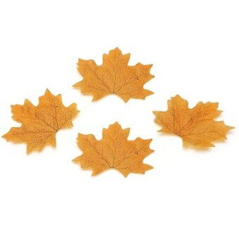 Simulation Leaves Autumn Leaves Simulation Flower WeddingDecoration - Yellow - intl
