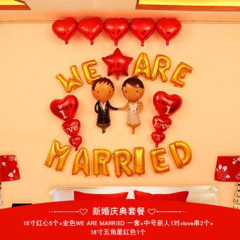 Size แพคเกจห้องพักแต่งงานลูกโป่งตัวอักษรอลูมิเนียมฟอยล์บอลลูน
