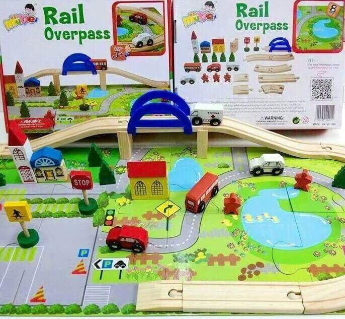 SK-Toys บล๊อคไม้สร้างเมืองจราจร