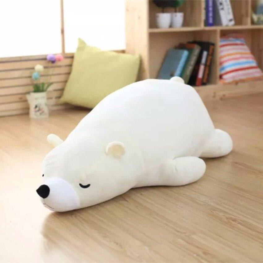 Sleeping Polar Bear Doll ตุ๊กตาหมี นอนหลับ Size 60 cm.