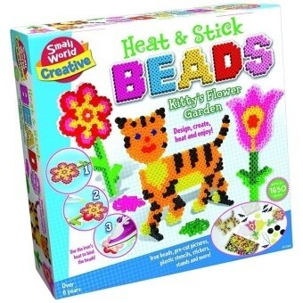 Small World Toys Creative - Heat & Stick Beads Kitty's Flower Garden - intl
