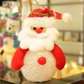 Snowman Santa Claus Ornaments Christmas Tree LED Light Hanging Xmas Decor Santa Claus - intl