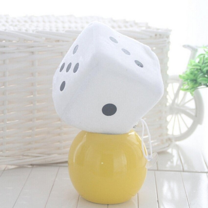 ขาย Soft Dice Plush Toy Kids Activity Games Props Creative Party Toy White 6cm - intl