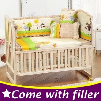 Harga Special Promotion 100X58Cm 5Pcs Set Forest Theme Baby Crib BeddingSet Kids Crib Bumper Baby Cot Set Cp01 - intl