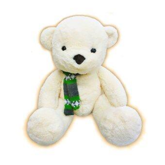 ST.ANDREWS ตุ๊กตาหมีครัวซ็อง กลิ่นวนิลา ไซส์ L (สีครีม)
