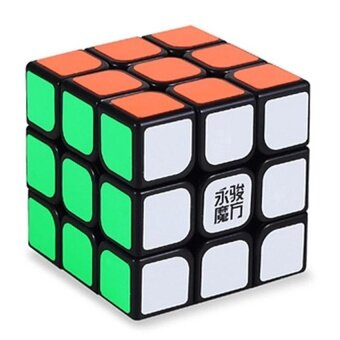 [Stock YJ] Speed Dragon Professional Rdy Rubik Cube Smooth Puzzle 3x3 -Black - intl