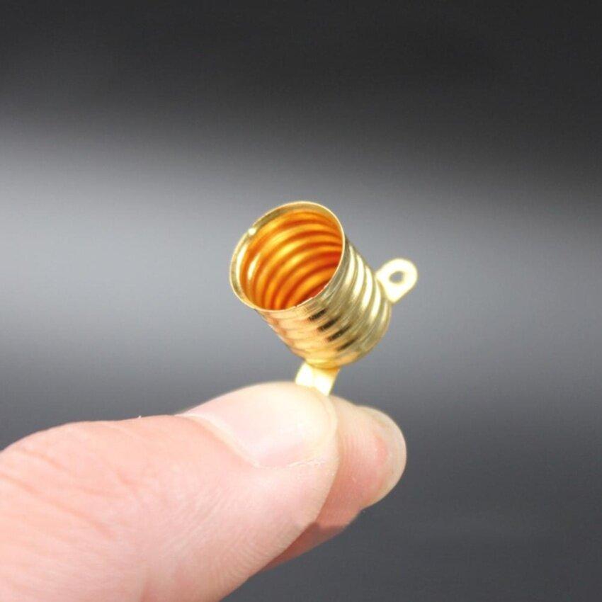 Straight Copper Brass Light Bulb Screw Base Mini Size Lamp Holder for E10 Small Bulb Light Style:Lamp holders - intl