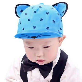 Summer Baby Hats With Ears Baseball Cap Baby Boys Girls Sun Hat -intl