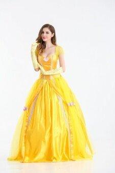SZ Princess Dress Adult Women Beauty and The Beast Belle MasqueradeCostumes Halloween Clothing Size XXL - intl
