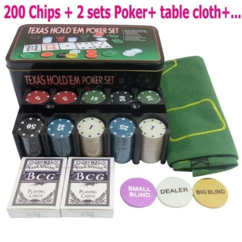 Texas Poker Games Set With 200 Chips - intl