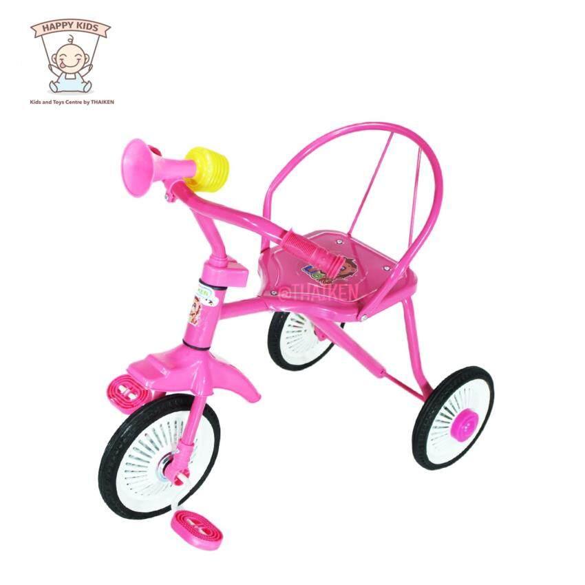 Thaiken รถจักรยานเด็กสามล้อ รุ่นโบราณ (สีชมพู) 235