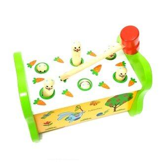 Todds & Kids Toys ของเล่นไม้ กระต่ายทุบฝึกกล้ามเนื้อมือเเละสายตา (image 1)