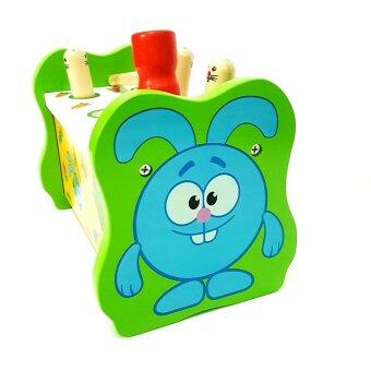 Todds & Kids Toys ของเล่นไม้ กระต่ายทุบฝึกกล้ามเนื้อมือเเละสายตา (image 4)
