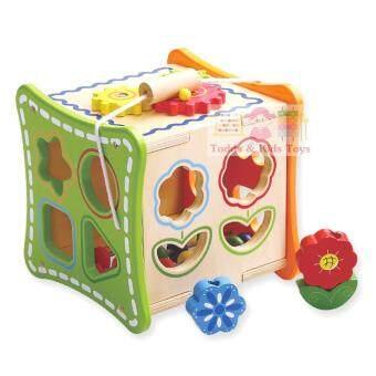 ToddsKids Toys ของเล่นไม้เสริมพัฒนาการ กล่องกิจกรรม บล็อกหยอด ร้อยเชือก ลูกคิดนับเลข เเละฟันเฟือง