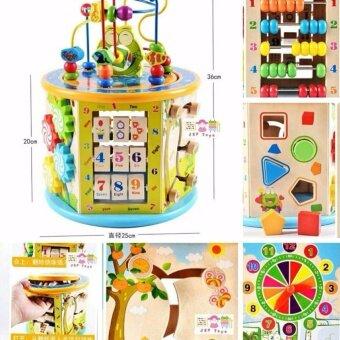 ToddsKids Toys กล่องกิจกรรมไม้ 7 ด้าน