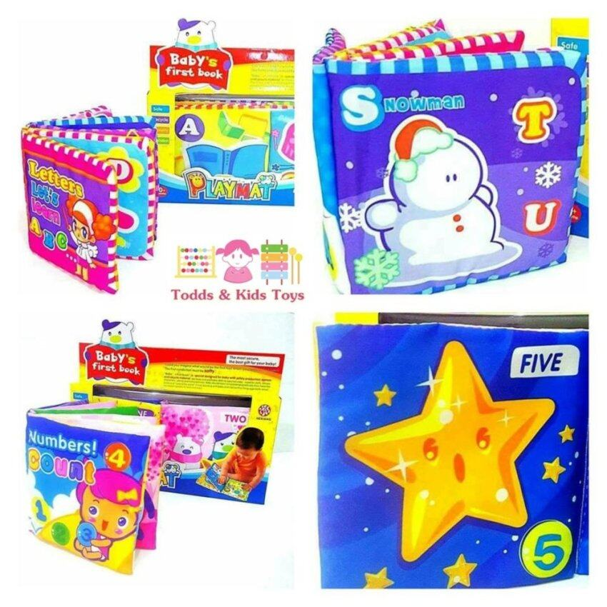 Todds & Kids Toys ของเล่นเสริมพัฒนาการ เซตหนังสือผ้า A-Z เเละ 1-10 (2 เล่ม)