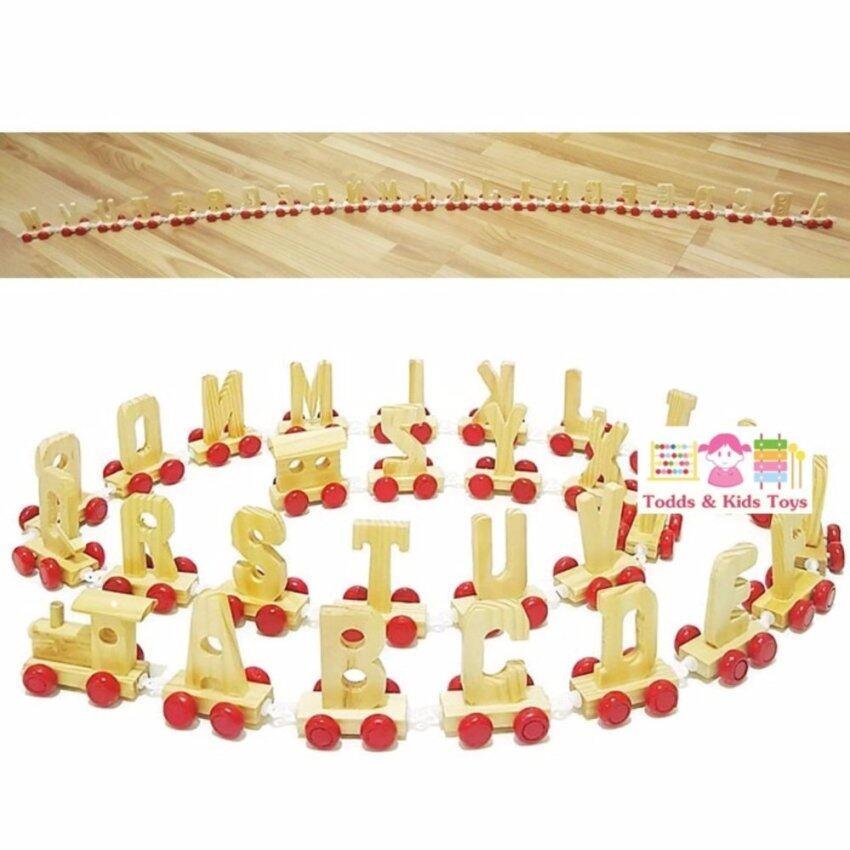 Todds & Kids Toys ของเล่นไม้ เสริมพัฒนาการ ขบวนรถไฟไม้ A-Z