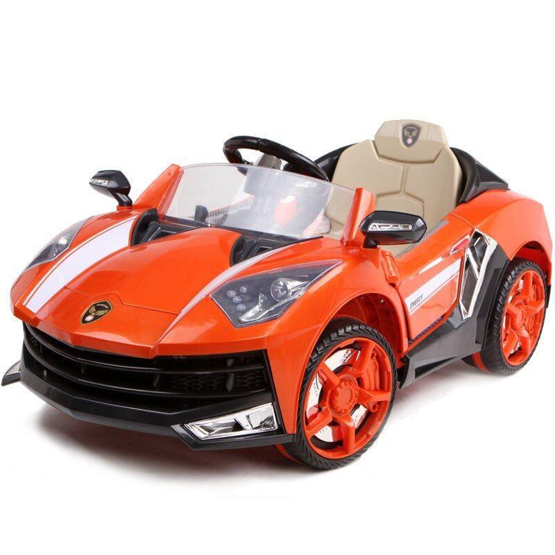 Toyzoner รถแบตเตอรี่เด็กนั่ง แลมโบกินี่ LN6168 - สีส้ม image