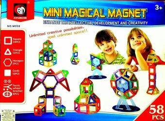 T.P.TOYS ตัวต่อแม่เหล็กมหัศจรรย์ Mini Magical Magnet 58 PCs