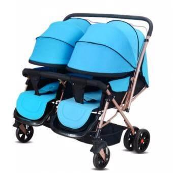 รถเข็นเด็กแฝด Twin stroller 21A ขนาด 106 x 90 x 65 cm