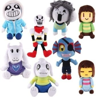 Undertale Frisk Chara Sans Papyrus Frisk Asriel Napstablook Toriel Temmie Undyne Stuffed Doll Plush Toy For Kids Gifts - intl
