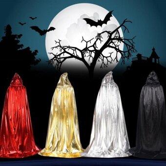Unisex Adults Children Halloween Hooded Cloak Cape Cosplay Party Costume - intl