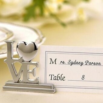 uniwood Wedding Decorative Metal Letter Seat Clip Creative TableClamp - intl