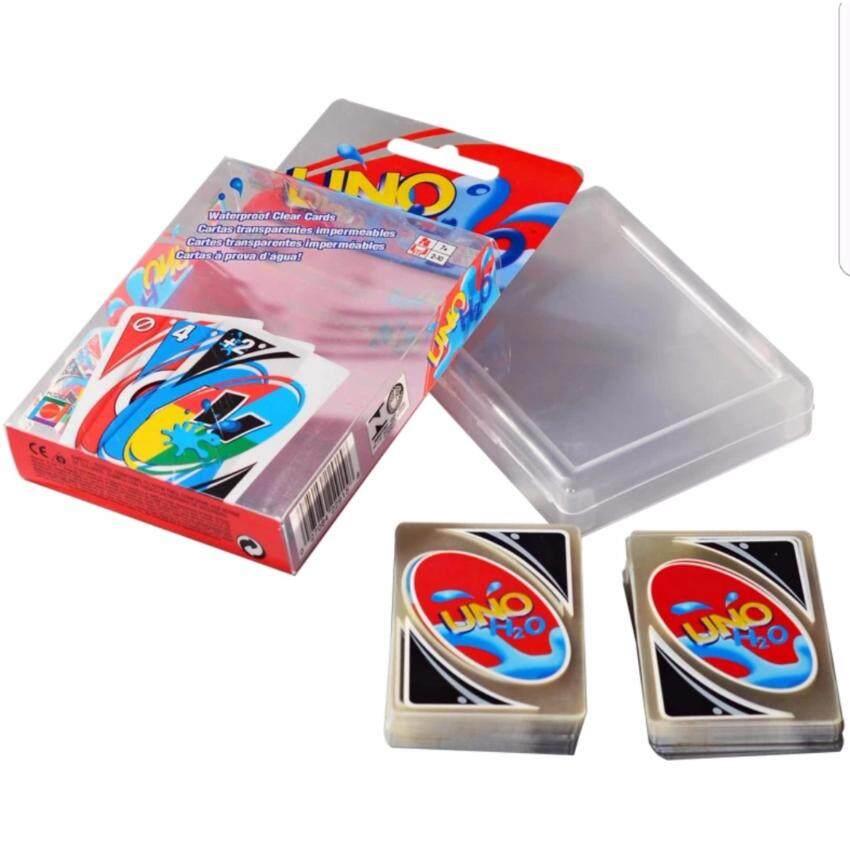 ไพ่UNOแบบใสกันน้ำ พร้อมกล่องพาสติกเก็บไพ่ ไพ่สำหรับปาร์ตี้ เล่นได้ 2-20 คน การ์ดอูโน่ UNO CARD