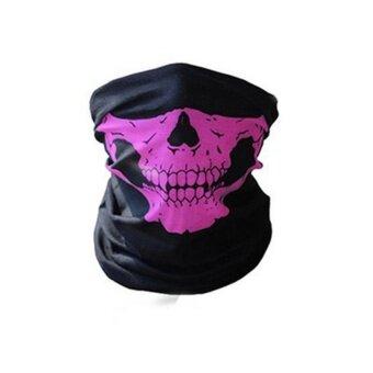 Unseamed Multifunctional Headband Skull Bandana Helmet Neck Face Mask Thermal Scarf Halloween Props - intl