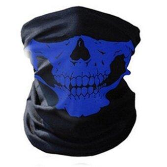 Unseamed Multifunctional Headband Skull Bandana Helmet Neck FaceMask Thermal Scarf Halloween Props - intl