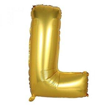 Vagski Letter Balloons Alphabet L Large Gold Aluminum Foil Balloons for Love Party Bridal Shower Wedding Birthday Decorations 40 Inch Q001L - intl