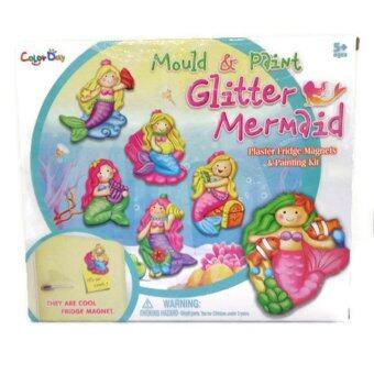 VcareForKids Mould & Paint Mermaid, ชุดทำ Magnetปูนปลาสเตอร์ระบายสี เซทนางเงือกน้อย