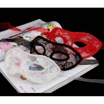 Venetian Women Translucent Mask For Masquerade Ballhalloween Party Red - intl