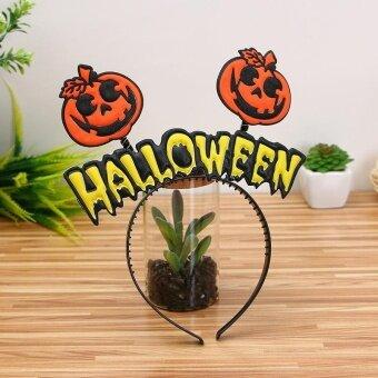 VORSTEK Halloween Hair hoop pumpkin Witch hair Hoop - C - intl