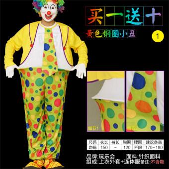 Wanlehui ตัวตลกฮาโลวีนผู้ใหญ่ชายและหญิงเสื้อผ้า