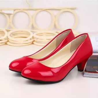 Wenhao ชัดเจนแสงเปิดทางเพศรองเท้าสีแดงรองเท้าส้นสูง