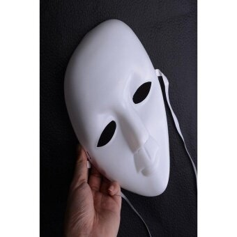 White Face Halloween Masquerade Diy Mask Party Costume Masks New - intl