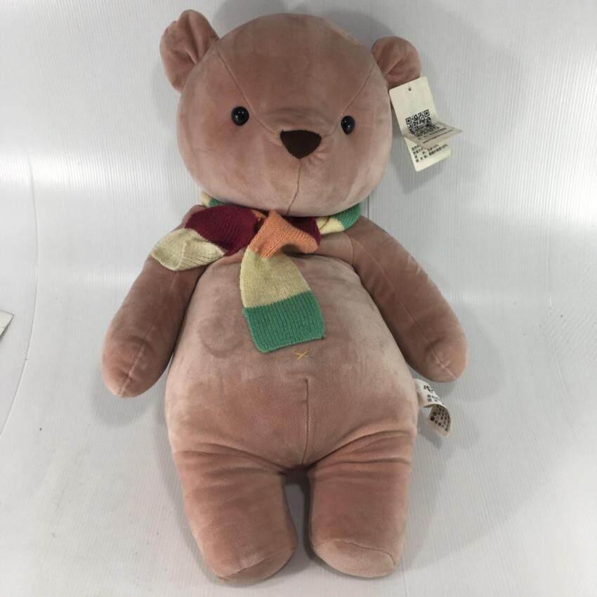 wipapha ตุ๊กตาหมีน้อย อ้วนขนนุ่มนิ่ม ผลิตจากวัสดุอย่างดี ไม่ใช่เม็ดโฟม ไม่กักเก็บฝุ่น ขนนุ้มนิ้ม สุดน่ารัก ไซส์54x34ซม. image
