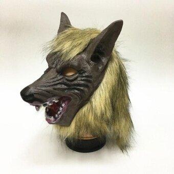 Wolf Devil Masks High-Grade Simulation Halloween Gloves/Headgear Horror - intl
