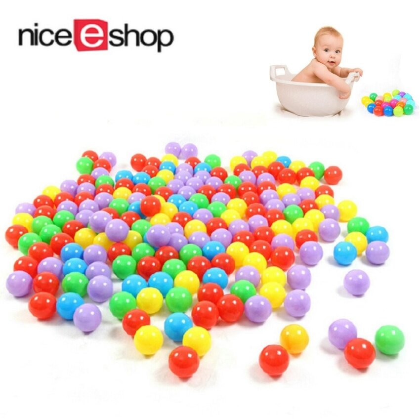Womdee Ball Pit Balls For Baby Kids 100pcs Non-Toxic Crush Proof Ocean Plastic Ball - intl